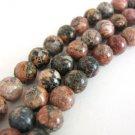 Red Leopardskin Jasper 6mm Round Gemstone Beads