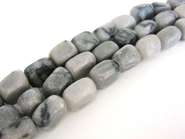 Picasso Jasper Beads 8x12mm Brick Gemstones Black