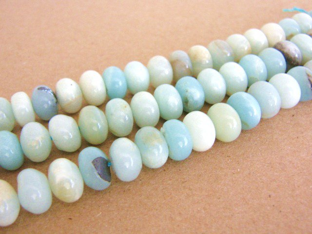 Amazonite Gemstone Beads 7x11mm Rondel