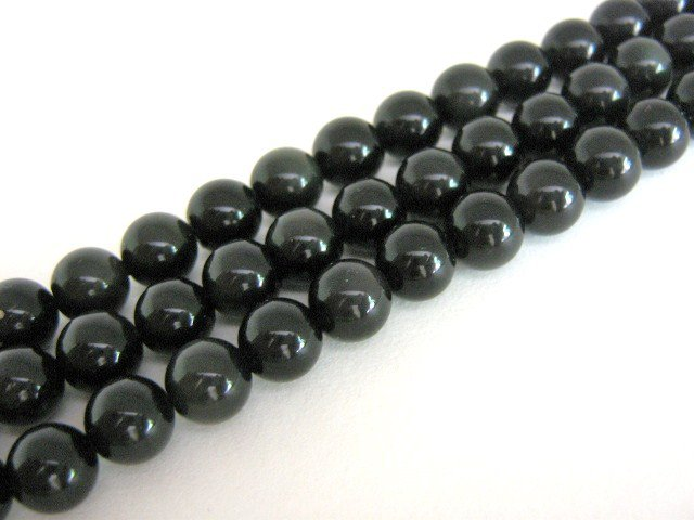 Black Obsidian 6mm Round Beads Gemstone