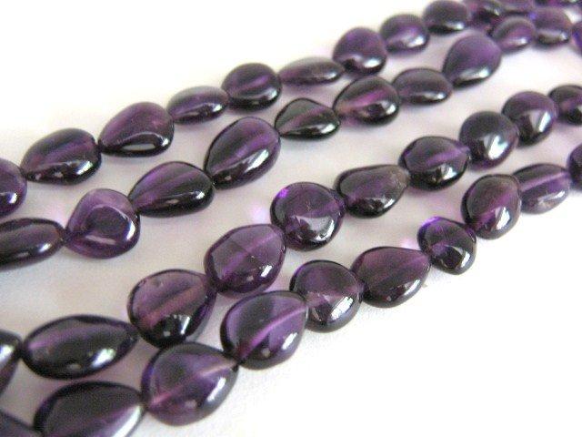 Amethyst Beads 7x8-10mm Pear Purple Gemstone