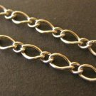 Mother and Son Chain Silver Plated 6x4mm 3x2mm 12 Feet
