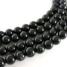Black Onyx 6mm Round Gemstone Beads