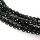 Black Onyx Gemstone Beads 4mm Round