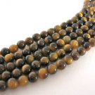 Tigereye Gemstone Beads 4mm Round