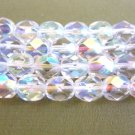 Clear Crystal AB Czech Glass Beads 6mm Faceted Round