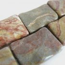 21x31mm Rectangle Rainbow Jasper Gemstone Beads