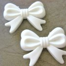 White 46mm Bow Knot Beads Acrylic Chunky Bubblegum