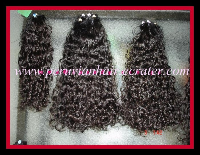 "4 oz. 20-24"" Virgin Peruvian Human Hair Curly"