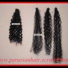 "4 oz 12-14"" Deep Curly Virgin Peruvian Human Hair"