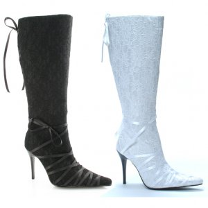 "4"" Heel Knee High Lace Boot"