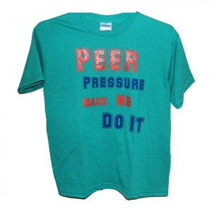 Peer Pressure Girls Tee (GREEN)