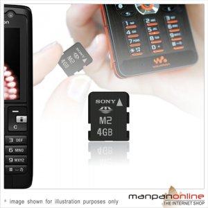 Genuine SONY Memory Stick Micro M2 4GB  Memory Card