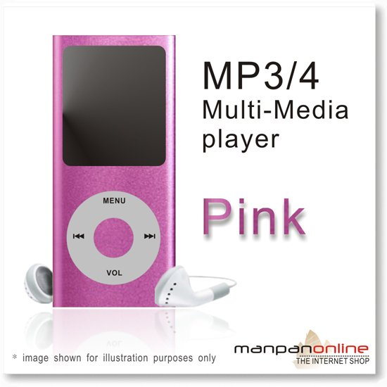 "MP3 MP4 Portable Multi Media Player 1.8"" LCD w/ 2GB pink"