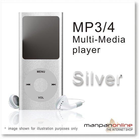 """MP3 MP4 Portable Multi Media Player 1.8"""" LCD w/ 2GB silver"""