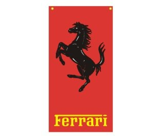 FERRARI OFFICIAL ITALIAN NYLON BANNER FLAG