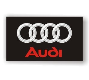 Audi 3D Logo Black Flag