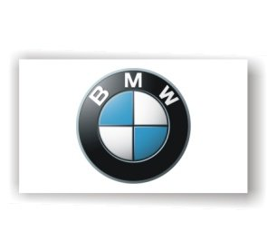 BMW 3D Logo White Flag