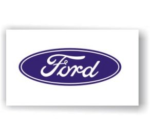 Ford Logo white banner  Flag