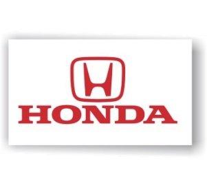 Honda cars white  Banner Flag