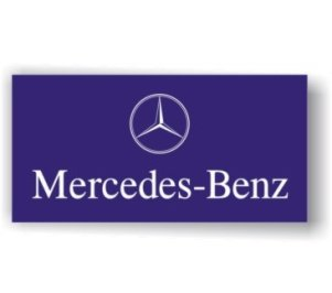 Mercedes Benz Blue Flag