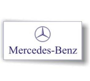 Mercedes Benz White Flag