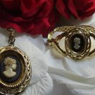 Whiting and Davis Cameo Parure