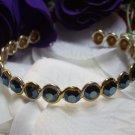 Open Back Rhinestone Cuff Bracelet