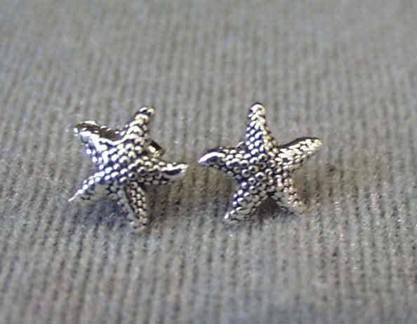 Sterling Silver Starfish Post Stud Earrings
