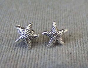 Sterling Silver Starfish Post Stud Earrings