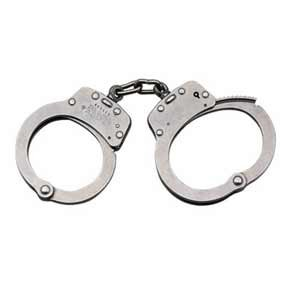 SMITH & WESSON # Model 103P Stainless Steel Chain-Linked Handcuffs w/Push Pin