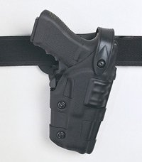 Safariland: Model 6070 Raptor, Level III Retention Mid-Ride SLS Duty Holster, Hood Guard