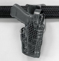 Safariland: Model 6075 Raptor, Level III Retention Belt Drop SLS Duty Holster, Hood Guard