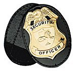 Boston Leather Oval Full Swivel Clip On Badge Holder with VELCRO® Closure