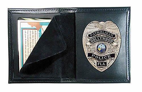 Boston Leather Model 100 Book Style Badge Case