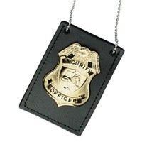 Boston Leather  Undercover Neck Chain Badge Holder