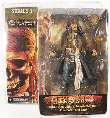 NECA PIRATES OF CARIBBEAN Dead Man's Chest series 1 JACK SPARROW