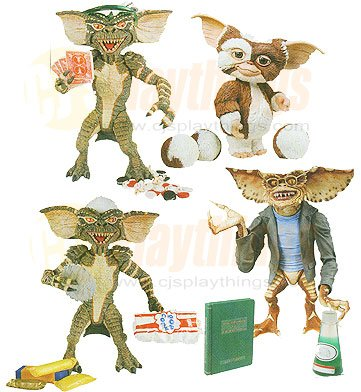 NECA GREMLINS set of 4 Gizmo Brain Poker Player Stripe PRE-ORDER