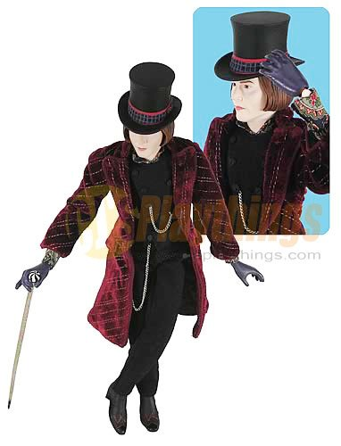 "Charlie & The Chocolate Factory 12"" deluxe Action Figure Willy Wonka Johnny Depp"