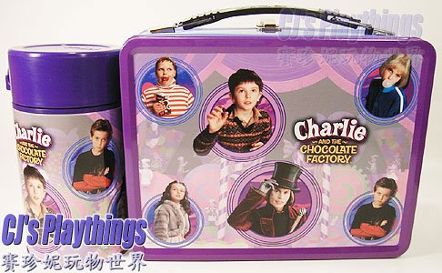 NECA Charlie & The Chocolate Factory Style 2 Tin Lunchbox w/ thermos
