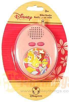 Authentic Disney Store Exclusive Princess bike Radio FM