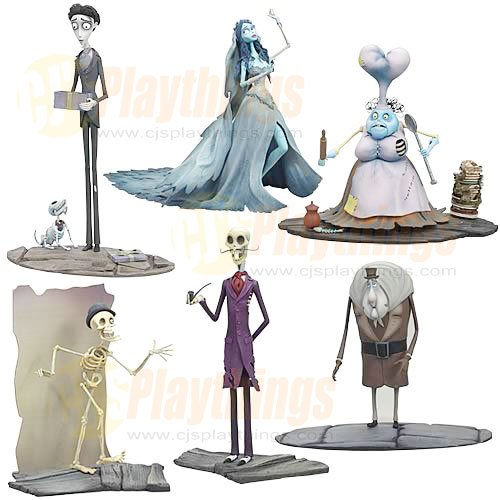 Mcfarlane Corpse Bride Action Figure Series 2 set of 6