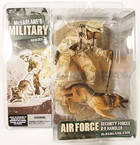 Mcfarlane Military series 3 AIR FORCE SECURITY FORCES K-9 HANDLER w/dog