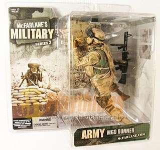 Mcfarlane Military series 3 Army M60 Machine Gunner Hispanic