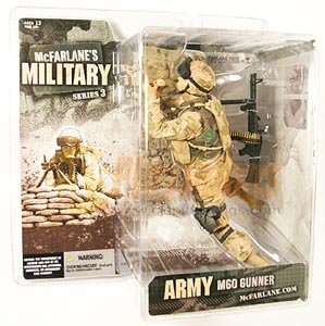 Mcfarlane Military series 3 Army M60 Machine Gunner Caucasian White