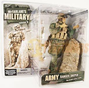 Mcfarlane Military series 3 Army Ranger Sniper Caucasian White