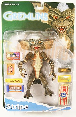 NECA GREMLINS Collectible Action Figure Stripe w/ candies popcorn & saw blade
