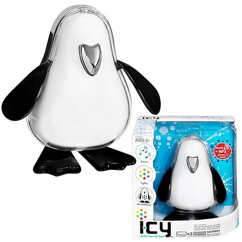 I-CY White Electronic Musical Robot Penguin for IPOD/MP3/NANO