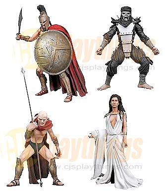 NECA 300 set of 4 w/ Leonidas Immortal Ephialtes Queen Gorgo NEW IN STOCK!