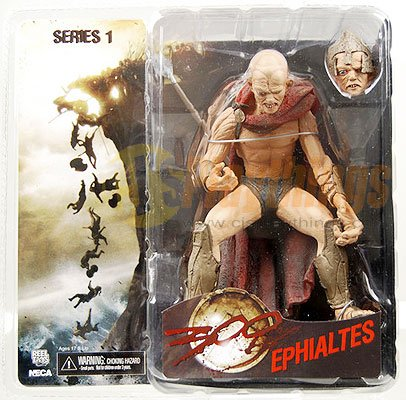 NECA 300 action figure Ephialtes w/ an extra head and accessory